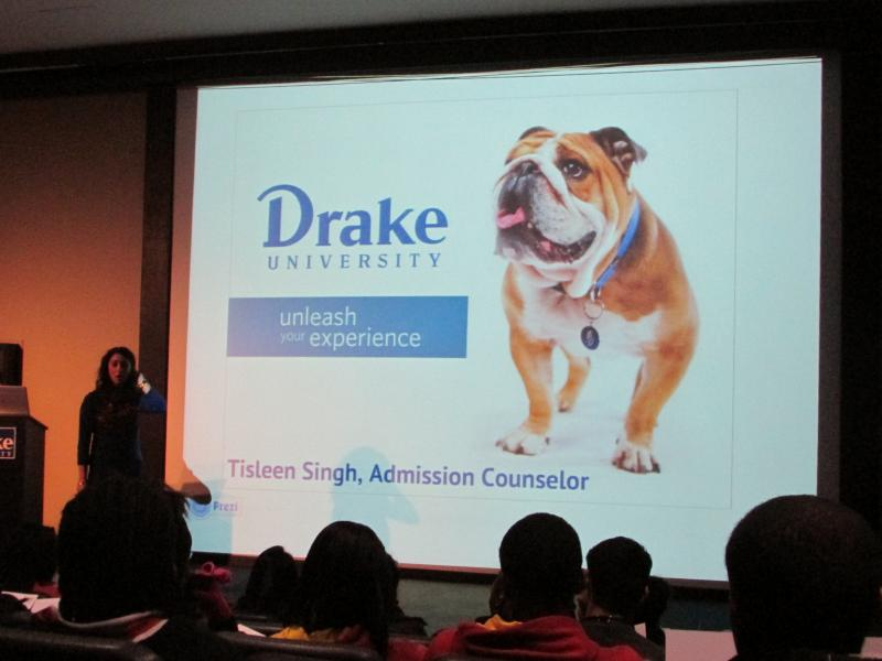 Admissions Presentation at Drake University in Des Moines
