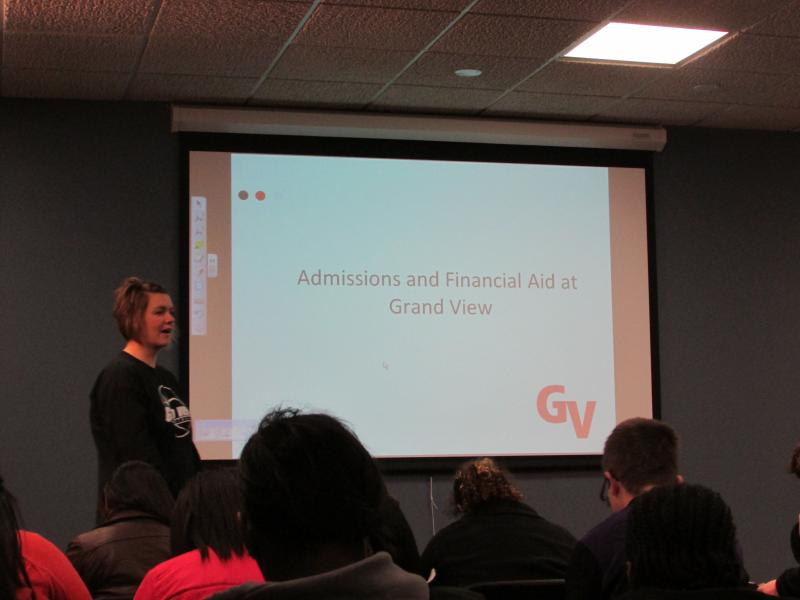 Admissions presentation by Grand View University staff