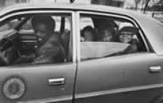 People in a car